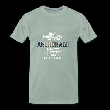 Zonnestelsel Earth Earth Anchorage Gift - Mannen Premium T-shirt