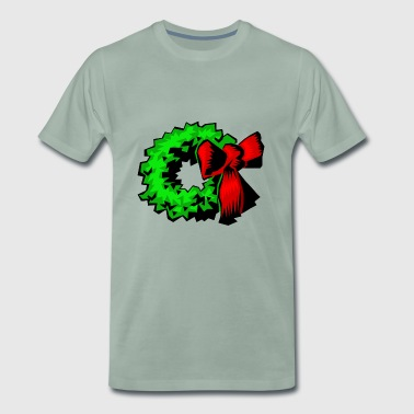 pine needle wreath christmas xmas christmas - Men's Premium T-Shirt