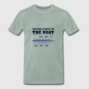In a boat row with all man gift - Men's Premium T-Shirt