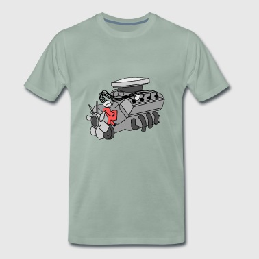 Engine turbocharger engineer construction gift - Men's Premium T-Shirt