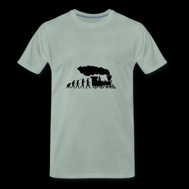 Tåg Evolution Shirt · Railway · tåg · Gift - Premium-T-shirt herr