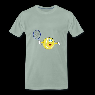 tennis emoticon smiley ball - Men's Premium T-Shirt