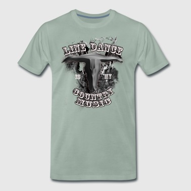 Line Dance er min Country Music - Premium T-skjorte for menn