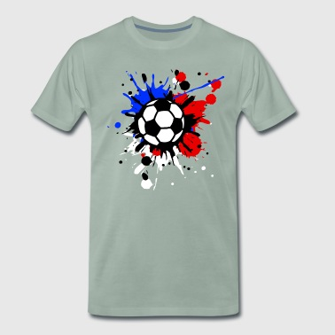 Football paint splashes Flag Flag paint splashes - Men's Premium T-Shirt