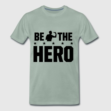 be the hero Dart - Sei der Held beim Dart - Männer Premium T-Shirt