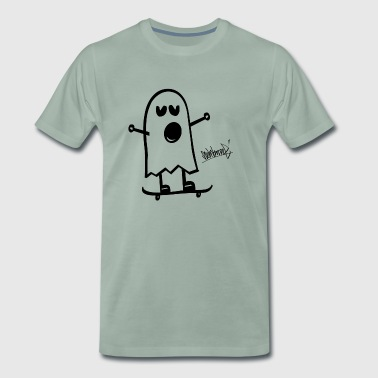 Funny Ghost Funny Spirit Planche à roulettes Steinkrone - T-shirt Premium Homme