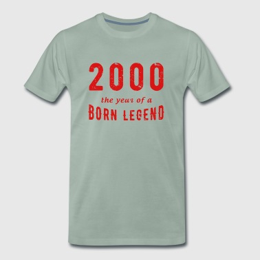 Born in 2000 Millenium Children Gift of age - Men's Premium T-Shirt
