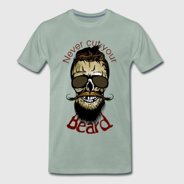 tete de mort citation never cut beard hipster barb - T-shirt Premium Homme