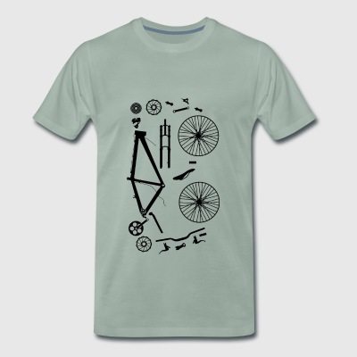 Bicycle Parts - Men's Premium T-Shirt