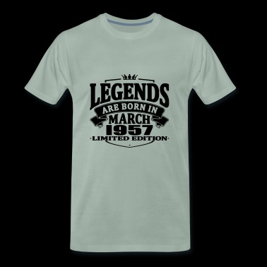 Legends are born in march 1957 - Men's Premium T-Shirt