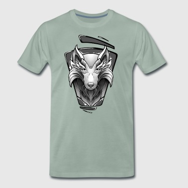 Loup Design Tattoo - T-shirt Premium Homme