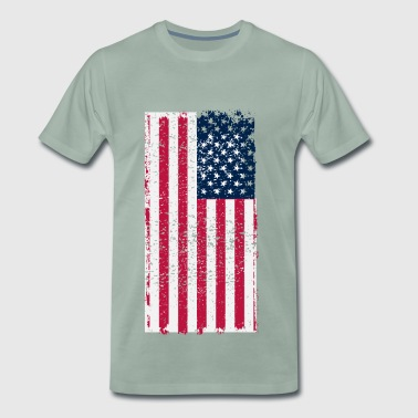 USA flagg - Premium T-skjorte for menn