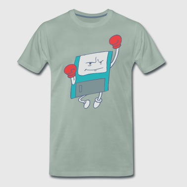 Second Wind, el Uppercut Punching Floppy Disk! - Camiseta premium hombre
