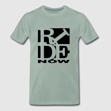 ride now Homage to Robert Indiana ride black out - Men's Premium T-Shirt