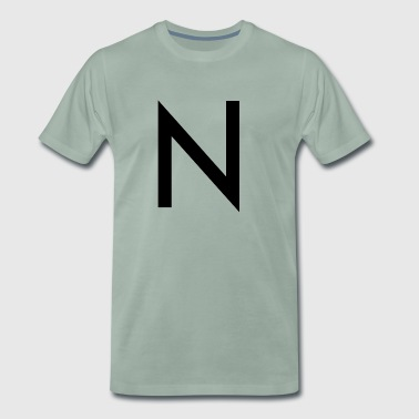 N initial letter city name - Men's Premium T-Shirt