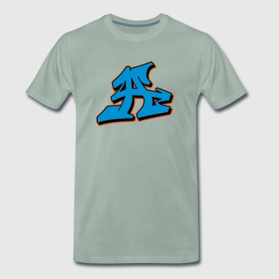 Graffiti Blockletter A - Mannen Premium T-shirt