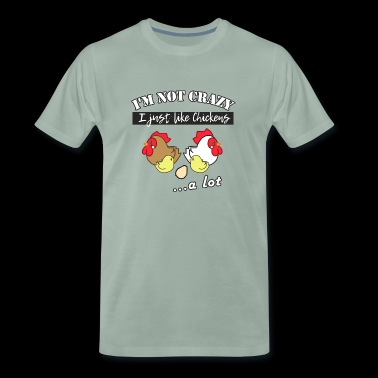Crazy Chicken Love - Männer Premium T-Shirt