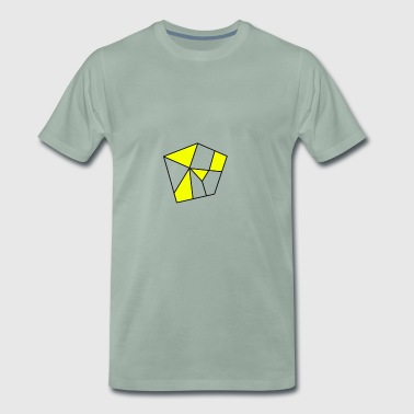 Cool pentagon. Gift idea - Men's Premium T-Shirt