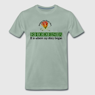 Rhodesia Story Begins (Green) - Men's Premium T-Shirt