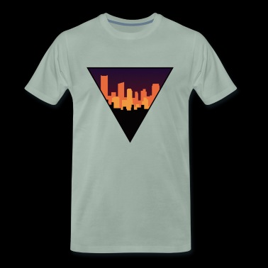 Skyline in the Night - Mannen Premium T-shirt