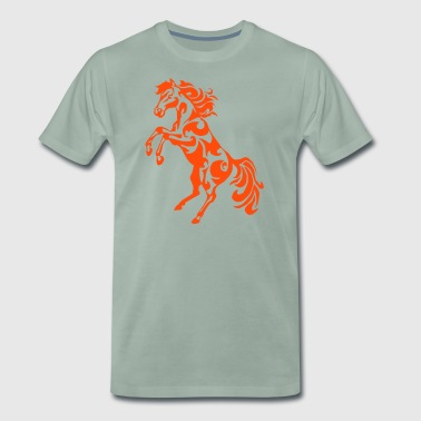 tribal horse pied ascending - Men's Premium T-Shirt