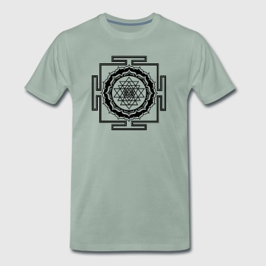 Sacred Geometry Shri Yantra Yoga Meditation Zen - Men's Premium T-Shirt