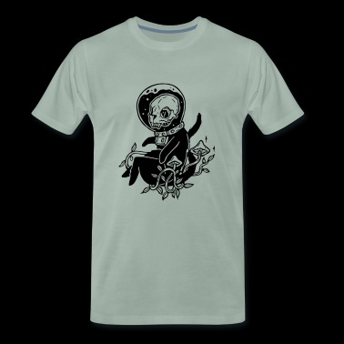 Psilocybin skull cat - Men's Premium T-Shirt