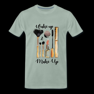 Make up Artist. Beautician. Beauty Studio Design. - Men's Premium T-Shirt