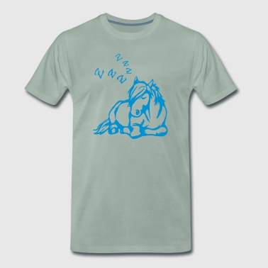 Sleeping cartoon cartoon horse ZZZ - Men's Premium T-Shirt