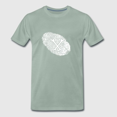 fingerprint dna dns gift mechatronics - Men's Premium T-Shirt