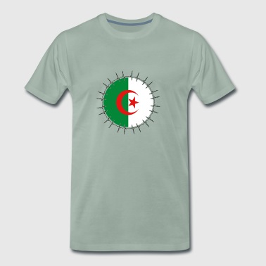 Love ECG Heartbeat Home Vacations Roots Algeria - Men's Premium T-Shirt