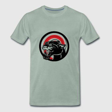 Zwart dier JUNGLE wilde kat - Mannen Premium T-shirt