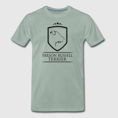 PARSON RUSSELL TERRIER COAT OF ARMS - Men's Premium T-Shirt