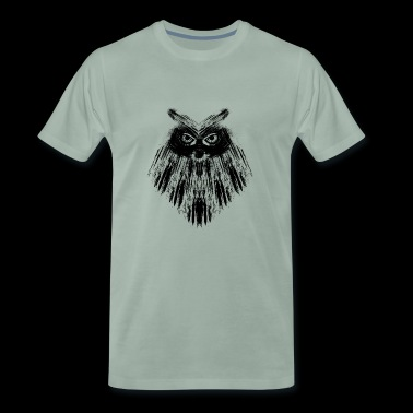 Owl owl black calligraphic - Men's Premium T-Shirt
