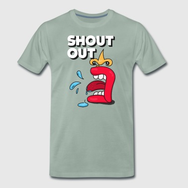 Shout Out - Herre premium T-shirt