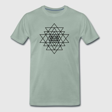 Shri Yantra Yoga Meditation Zen Sacred geometry - Men's Premium T-Shirt