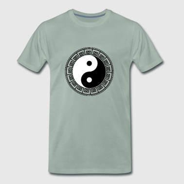 Yin Yang sign with edge - Men's Premium T-Shirt