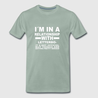 relationship with LETTERBOXING - Männer Premium T-Shirt