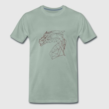 DRAGON POLYGON - Mannen Premium T-shirt