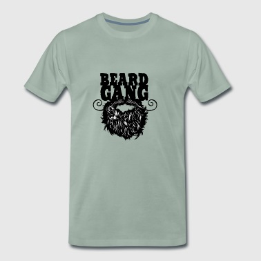 beard gang beard quote bearded mustache mustache - Men's Premium T-Shirt