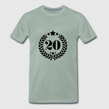 20th Birthday Wreath - Anniversary Wreath - Men's Premium T-Shirt