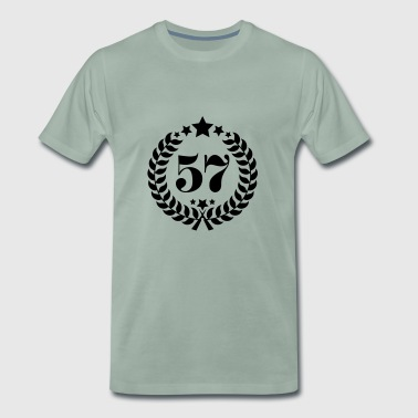 57th Birthday Wreath - Anniversary Wreath - Men's Premium T-Shirt