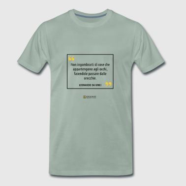 Quote Leonardo da Vinci - Men's Premium T-Shirt