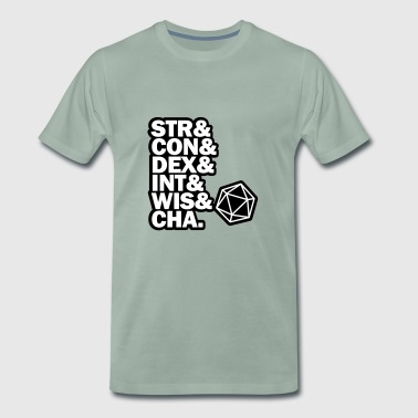 STR & DEX CON & INT & WIS and CHA. - Men's Premium T-Shirt