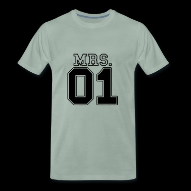 FRU 01 Mr & Mrs par JGA Partnerlook del 2 par - Premium-T-shirt herr