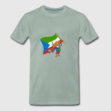 Equatorial Guinea fan hund - Premium T-skjorte for menn