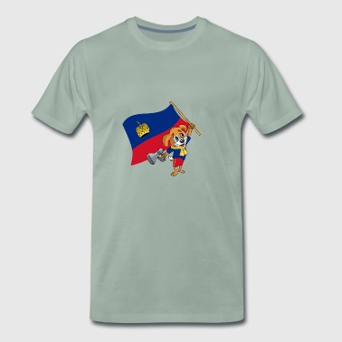 Liechtenstein fan dog - Men's Premium T-Shirt