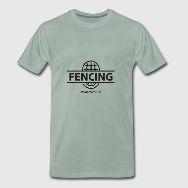 Fencing mask sports sports fencing gift sword - Men's Premium T-Shirt
