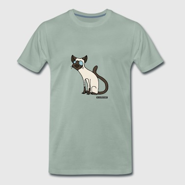 Cat - Siames - Men's Premium T-Shirt