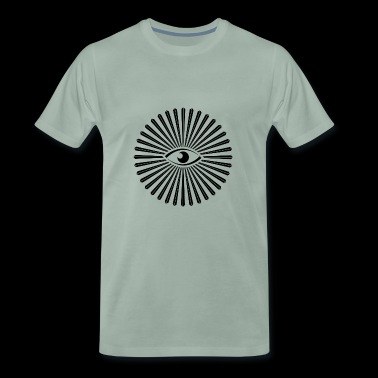 all seeing eye design - Herre premium T-shirt